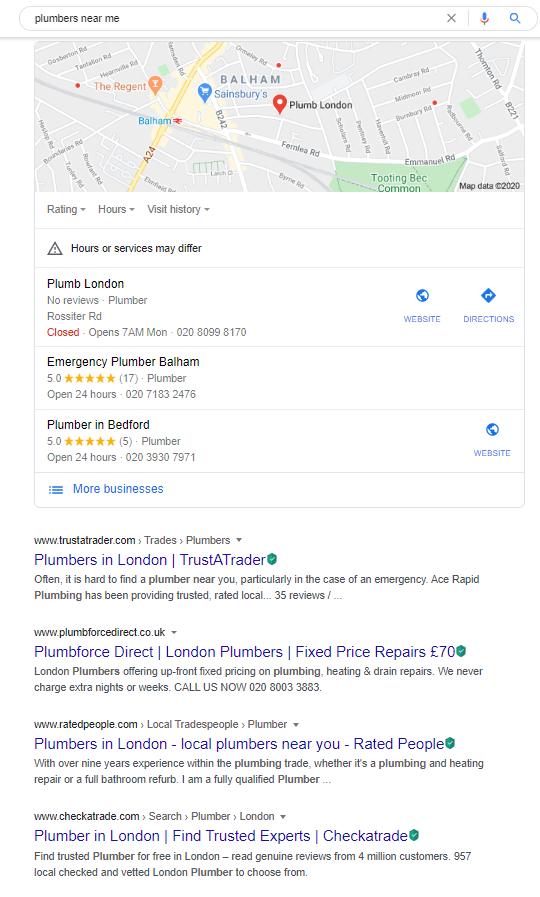 local near me searches