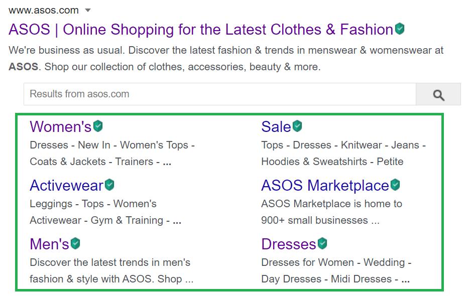 homepage seo site links